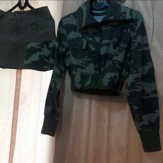 1 Steal Jaket&rok Mini Army Look. Uk S.no Brand
