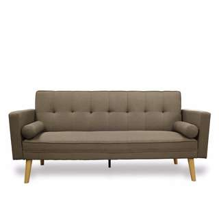 ZEN GREY FABRIC CLICK CLACK SOFA GREY