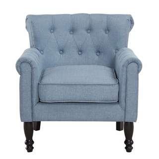 Brand New Jayden Fabric Armchair, Light Blue