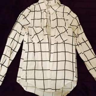 Runway Scout Grid Shirt XS