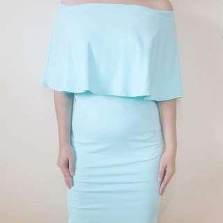 Off-shoulder Nursing Dress