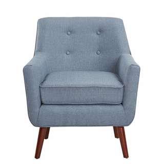 Brand New Bella Armchair, Light Blue, Grey