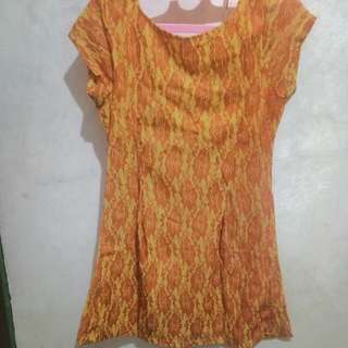 Dress Broklat Kuning Orange