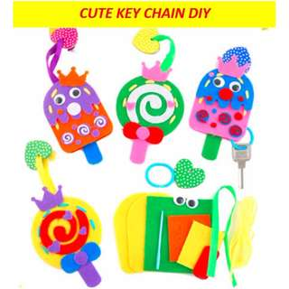 Cute key chain DIY / fabric / popsicle lollipop designs