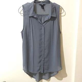 H&M Collared Chiffon Shirt