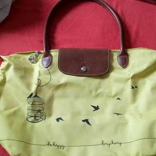 Longchamp Lepliage Yellow Tote Bag