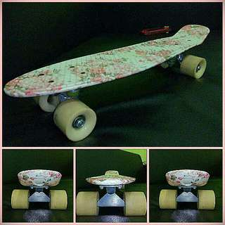 Floral Pink Penny Board