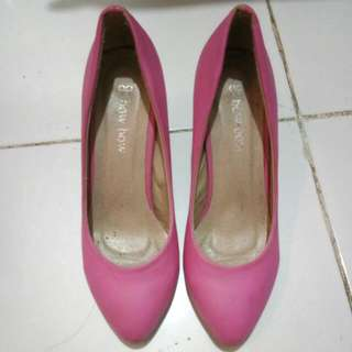 Heels Bow Bow Pink