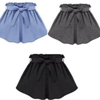 Woman Solid Color Elastic Waist Casual Shorts Plus Size Loose Summer Shorts