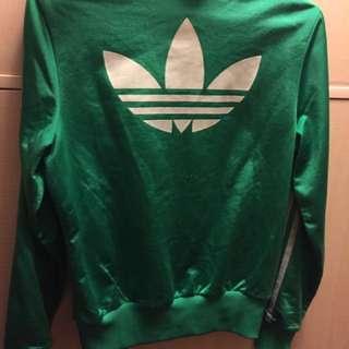 Adidas 綠 外套 銀 女