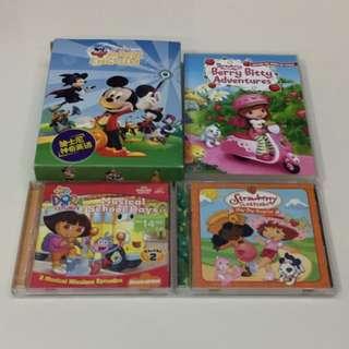 USED: Dora/Strawberry Shortcake/Mickey Mouse VCDs
