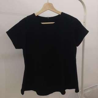 Plain Black Blouse (No brand, Size S)