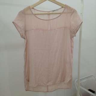 Stradifarius Pink Blouse (Size S)