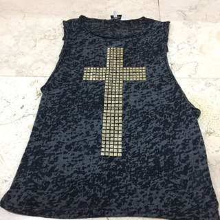 New Look Cross Sleeveless Top