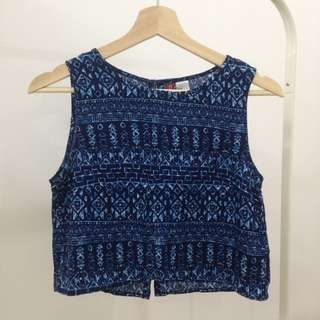 H&M Cropped Sleeveless Top (Size 34, S fit)
