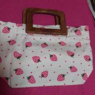 Strawberry Clutch/small Bag