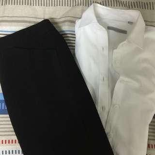 面試套裝(襯衫、窄裙)