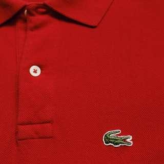 古著 復古 Vintage LACOSTE  早期美製素色短袖Polo衫 made in USA