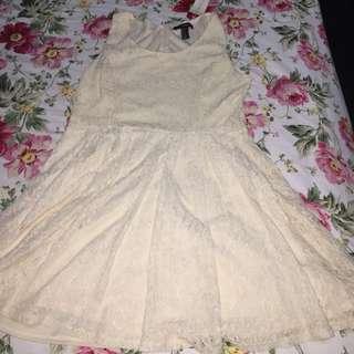Forever21 Brukat Dress White