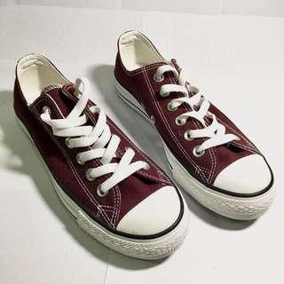 Lativ酒紅色帆布鞋#500元好女鞋
