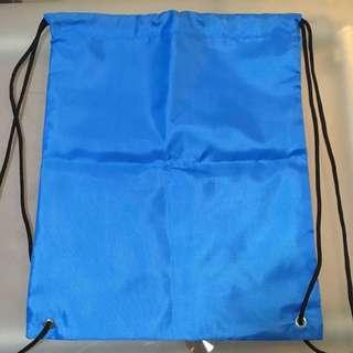 全新淺藍帆布索繩袋