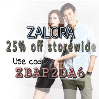 Limited Time 25% Off Zalora!!