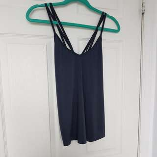 Strappy Loose Grey Tank