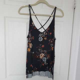 Strappy Loose Floral Tank