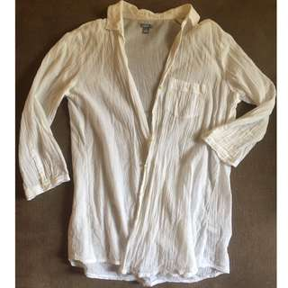 Aerie Cotton Button-up Shirt