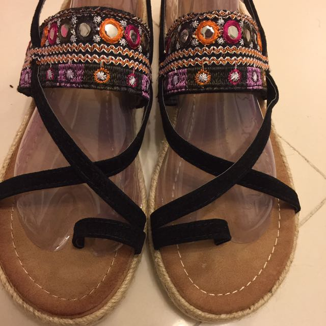 全新38.5碼歐美風渡假風泰國波西米亞羅馬涼鞋
