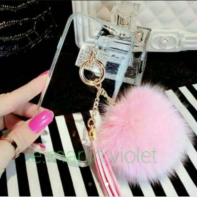 [3 for $15] Pink furball and tassel chains #Easter40