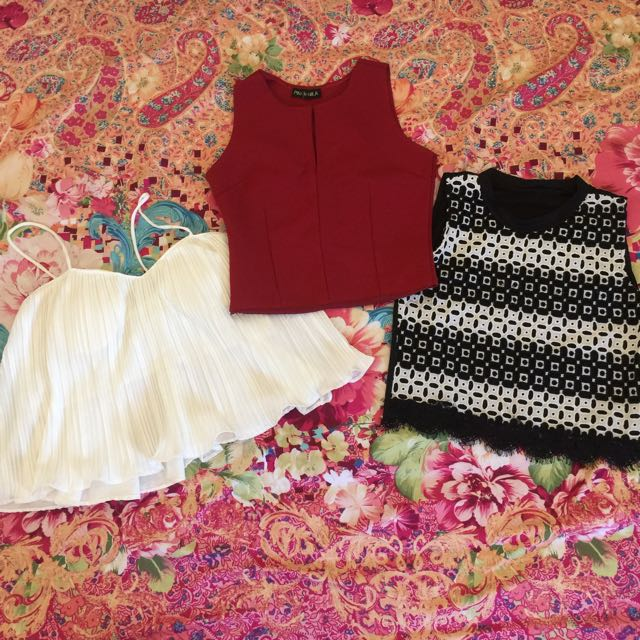 3 tops fops for only 100 pesos! 💗💗💗