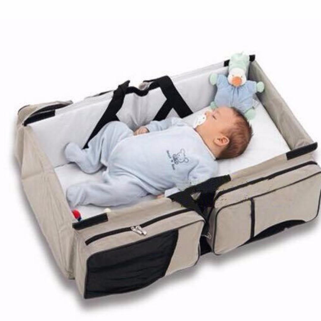 3-in-1 travel bassinet and diaper bag