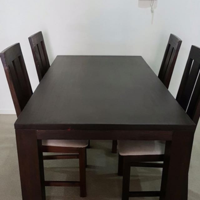 6 Seater Timber Dining Set