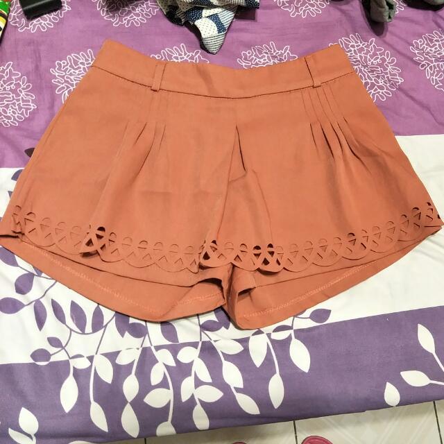 蜜桃粉褲裙(僅試穿)