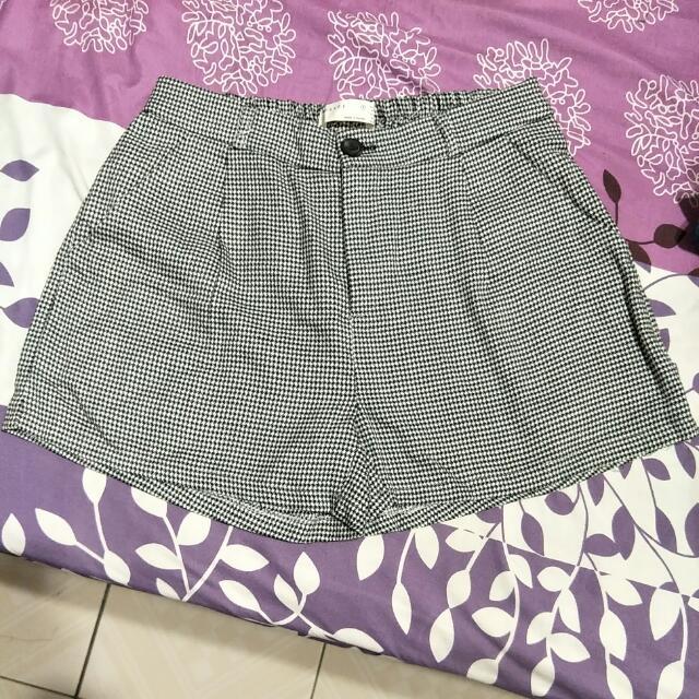 正韓格子短褲