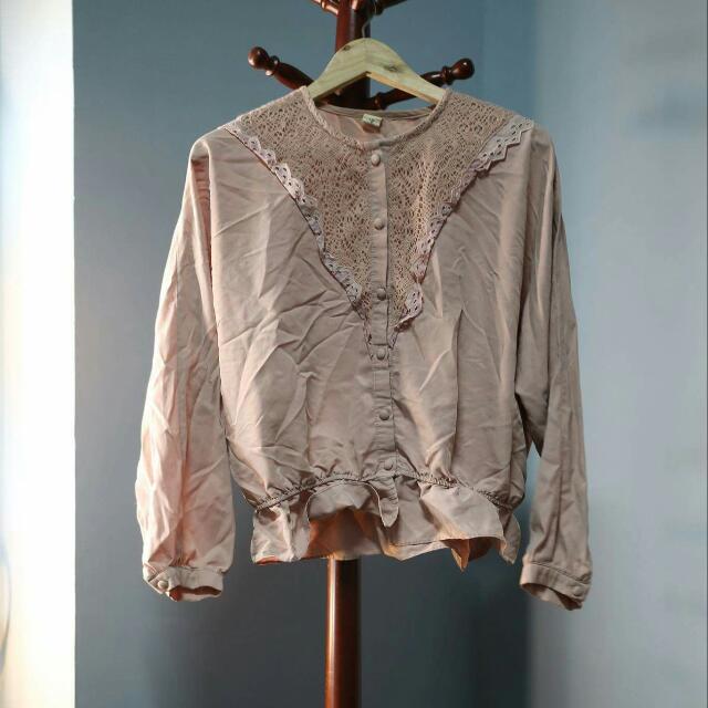 古著♥藕色襯衫上衣