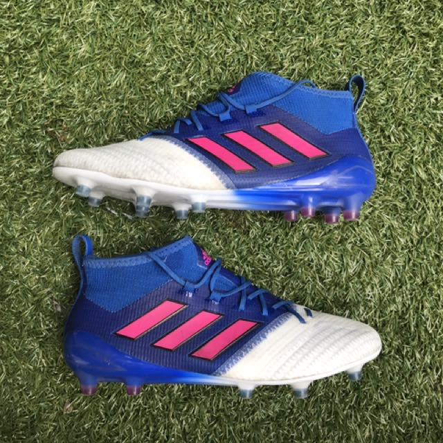 huge discount 00c7e da81a Adidas ACE 17.1 Primeknit Blue Blast, Sports, Sports Apparel ...