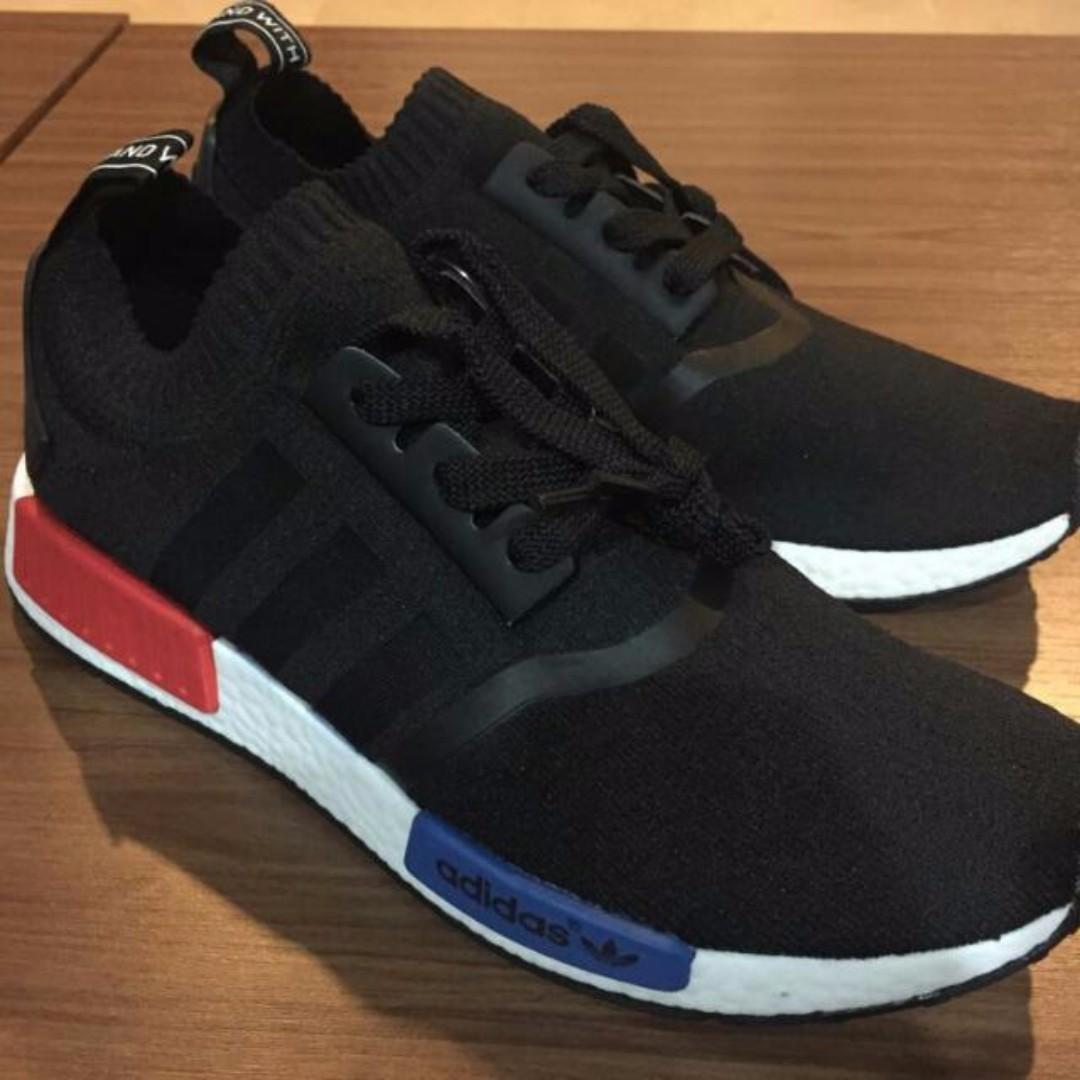 free shipping 12378 3aea2 Adidas NMD R1 Black Blue Red, Men's Fashion, Footwear on ...