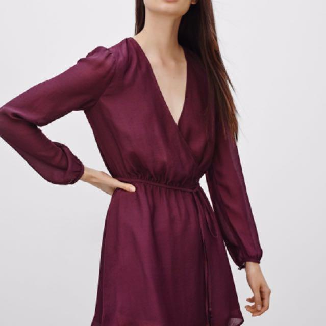 New w/o Tags - Aritzia Talula Basing Dress - Cardamom / Maroon / Burgundy