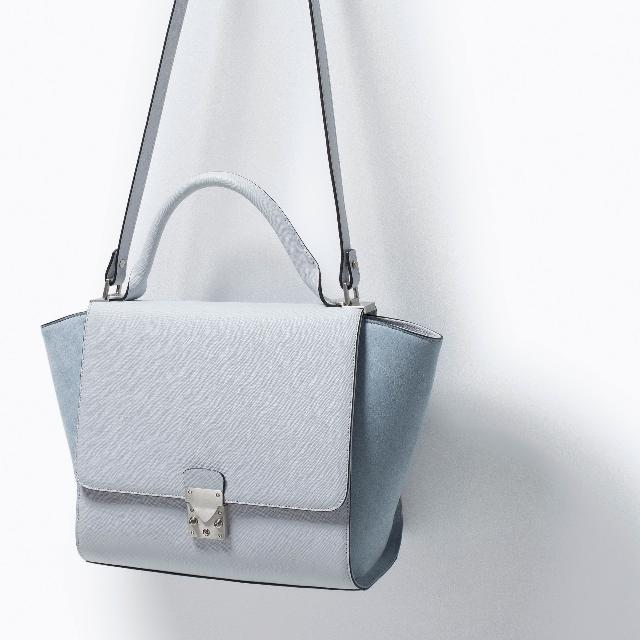 69818708e5c Authentic Zara Combined City Bag With Buckle, Women's Fashion, Bags ...