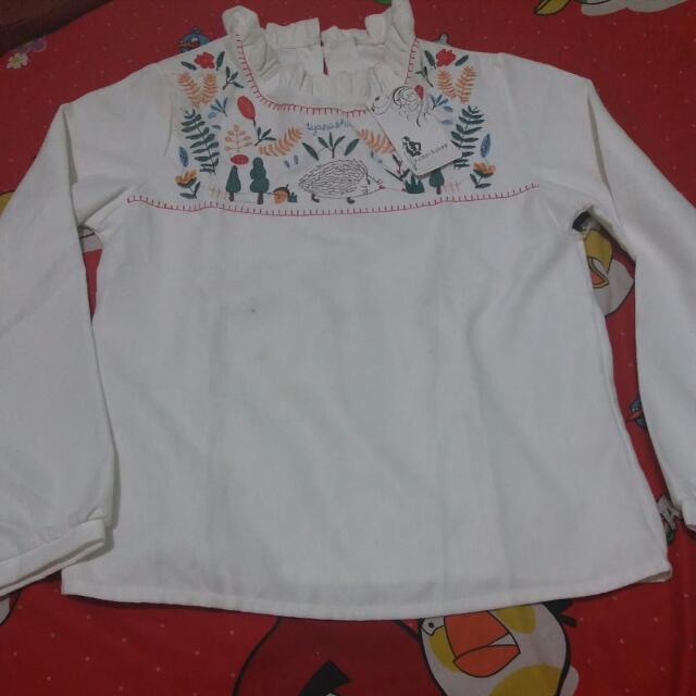 Baju Putih Bordir