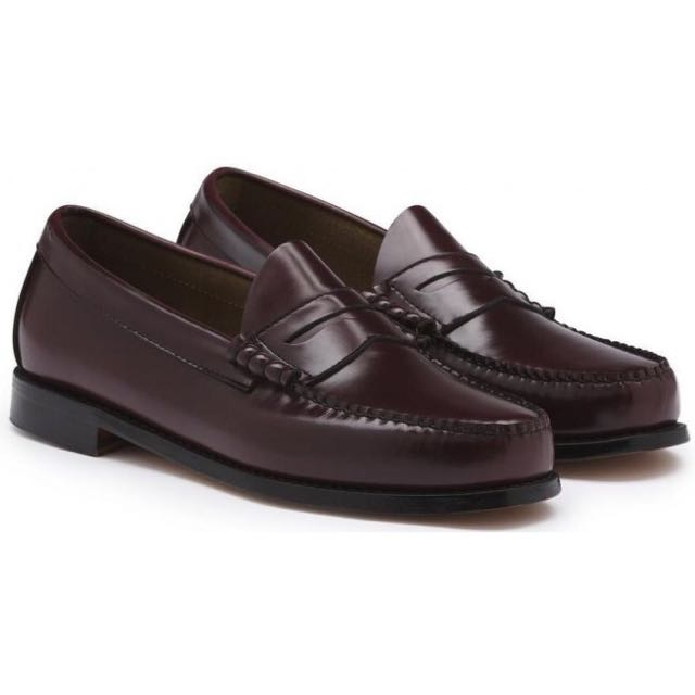 Bass Larson Weejun Penny Loafers - Burgundy