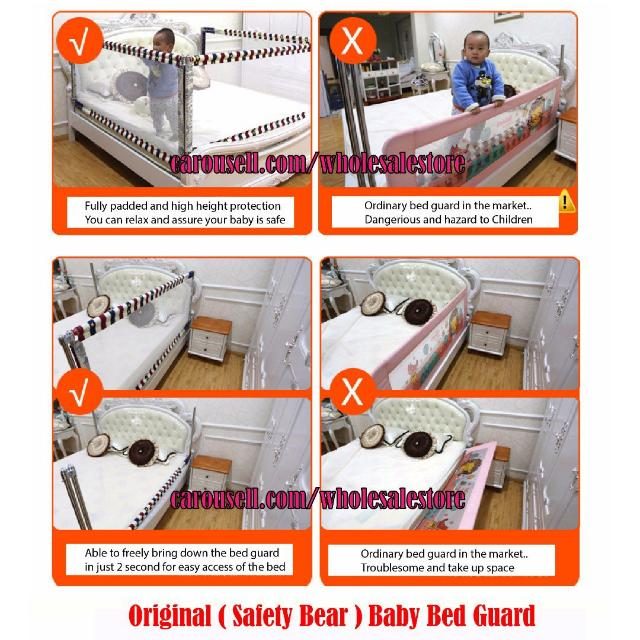 Best Seller Original Safety Bear Brand Baby Bed Guard In Playpen Bedguard Style Babies Kids Others On Carousell