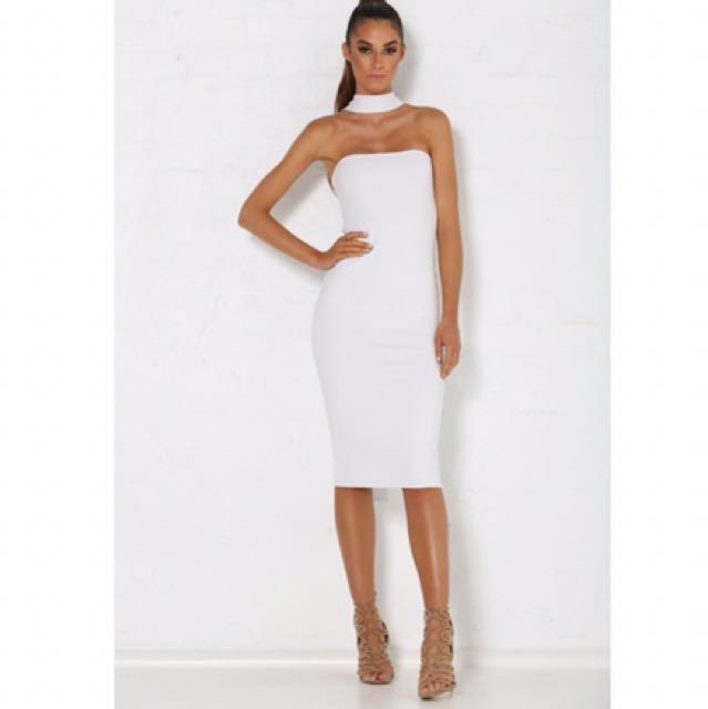 Billy & Boo / Michaela Multiway Choker Dress - White Medium