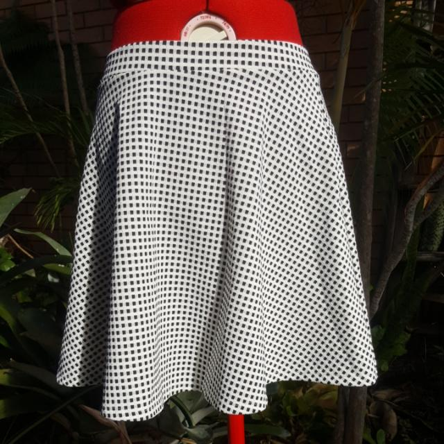 Black And White Dotti Skater Skirt