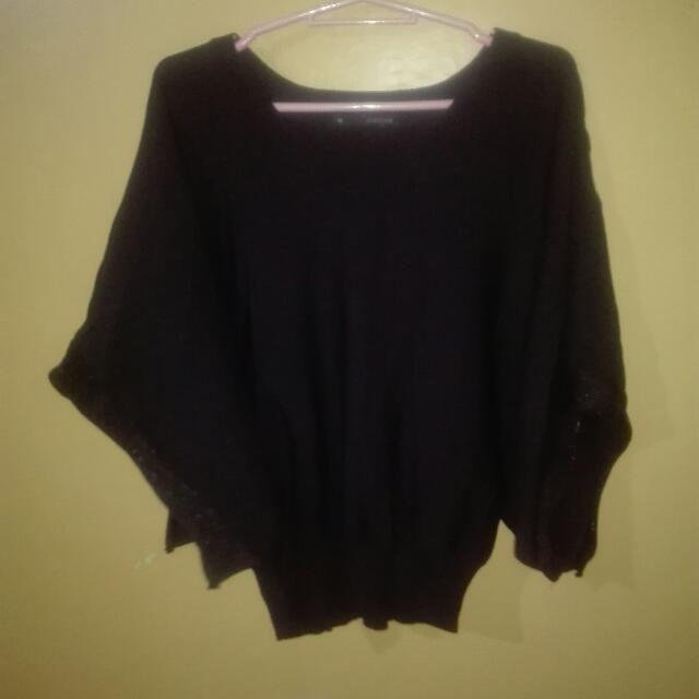 Black Kimono-style blouse