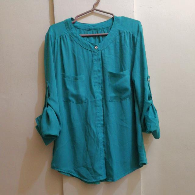 Blue-green Long-sleeves