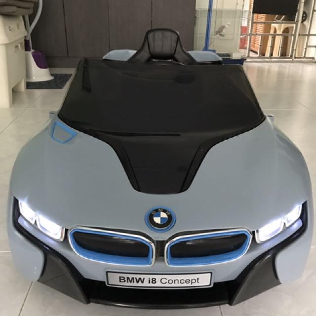 bmw i8 concept 12v ride-on-kids battery power wheels car remote