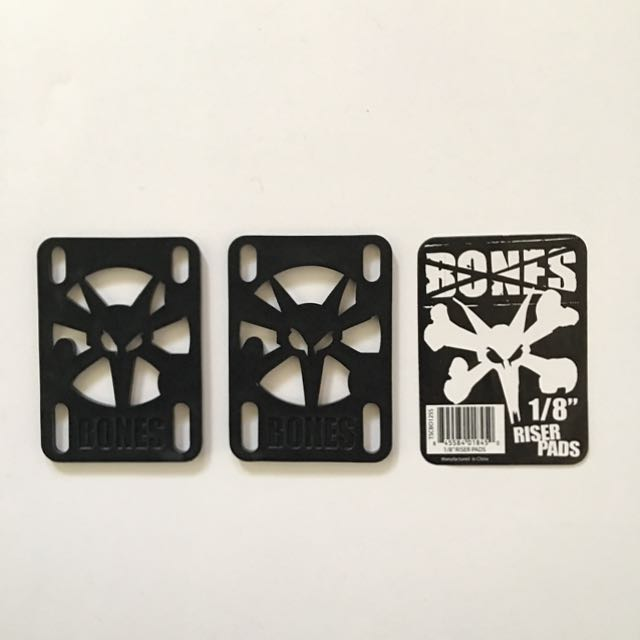 "BONES 1/8"" Hard Riser Pads for Skate/Longboards"